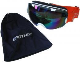 BROTHER B298-B lyžaøské brýle s velkým zorníkem - bílé