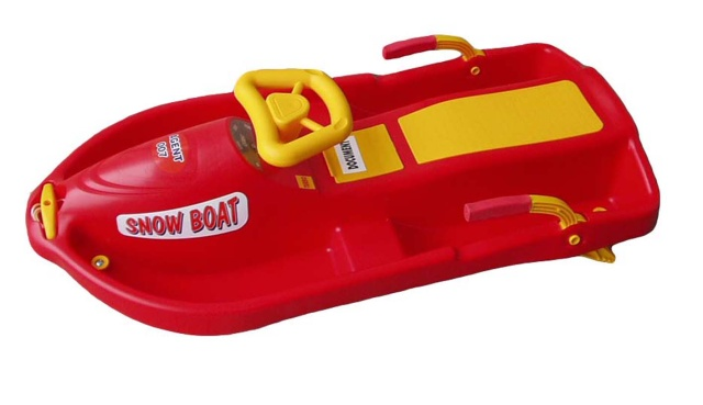 Acra Snow Boat řiditelný bob A2035 - červený