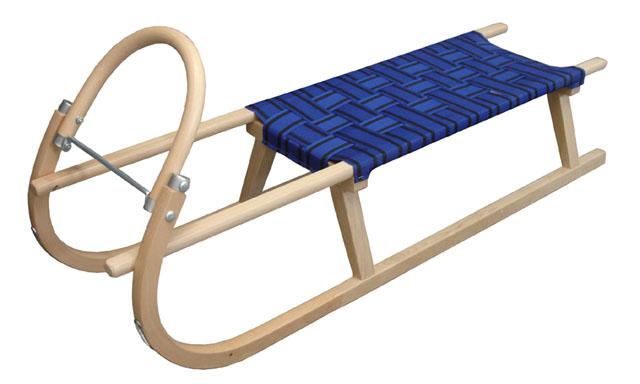 Acra sáně 125cm dřevěné A2042-MO - modré