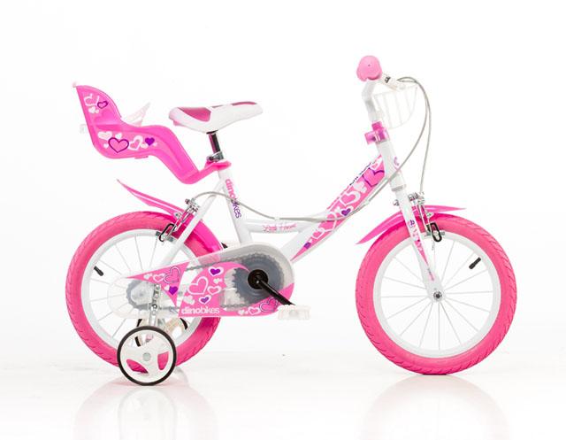 """ACRA 164RN Bílá, růžový potisk 16"""" 2015 dětské kolo"""