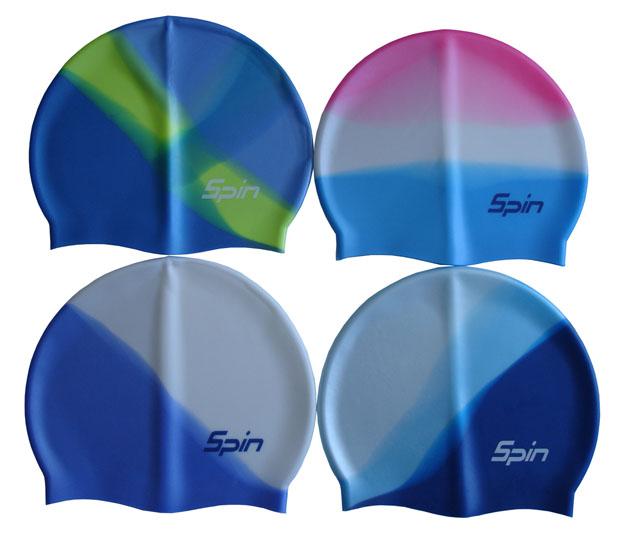 ACRA P1128 Koupací čepice Spin multicolore