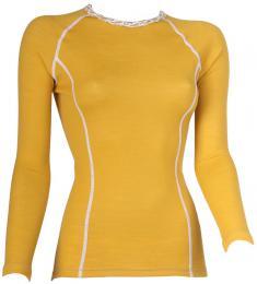 TERMOVEL Dámské trièko WOOL DLR W žluté vel. S