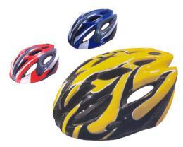 ACRA CSH25L èervená/modrá/žlutá cyklistická helma velikost L(58-60cm) 2015