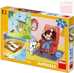 DINO Puzzle 3x55 dílkù Moje pohádky Veèerníèek 18x18cm skládaèka 3v1