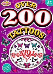 Kniha tetování dìtské tetovaèky velká sada 200ks+