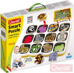 QUERCETTI Baby Smart Puzzle magnetické vkládací Džungle 12 dílkù oboustranné 2v1