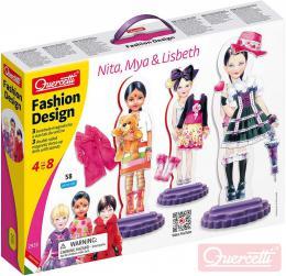 QUERCETTI Fashion Design Nita, Mya and Lisbeth magnetické šablony obleè panenku