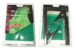 ACRA Sada rychloupínací na stolní tenis držák + sí�ka zelená