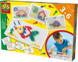 SES CREATIVE Mozaika na desce set s pøedlohami v krabici