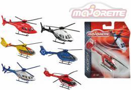 MAJORETTE Vrtulník kovový 13cm 2 druhy 6 barev na kartì