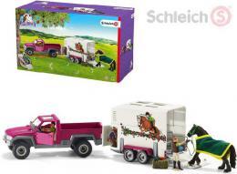 SCHLEICH Auto pickup s konìm + 2 figurky s doplòky set 14ks v krabici
