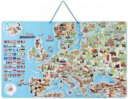 WOODY DØEVO Hra mapa Evropy 3v1 nauèné puzzle skládaèka 75x45cm AJ