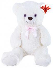 PLYŠ Medvìd Lily 78cm krémový s mašlièkou s vìnováním *PLYŠOVÉ HRAÈKY*