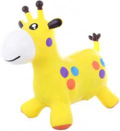 Baby hopsadlo Žirafa 52x44x26cm skákací zvíøátko set s pumpièkou guma