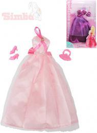 SIMBA Šaty pro panenku Steffi Love Romantic World set s kabelkou a botièkami