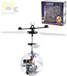 MAC TOYS Levitující planetka koule magická vrtulníková ovládání dlaní LED Svìtlo