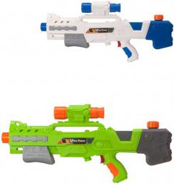 Pistole vodní 50cm se zásobníkem na vodu ultra power 2 barvy plast