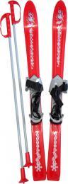 PLASTKON Lyže dìtské Baby Ski 90cm carvingové Èervené s vázáním plast