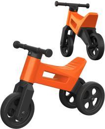 Dìtské odrážedlo Funny Wheels 2v1 odstrkovadlo tøíkolka / 2 kola ORANŽOVÉ plast