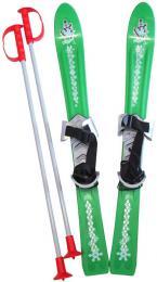 PLASTKON Lyže dìtské Baby Ski 70cm carvingové Zelené s vázáním plast