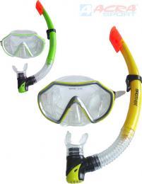 ACRA Potápìèské brýle pro dospìlé set se šnorchlem do vody na blistru