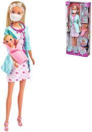 SIMBA Panenka Steffi doktorka 29cm herní set s miminkem a doplòky
