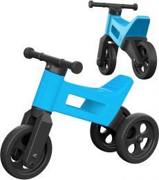 Dìtské odrážedlo Funny Wheels 2v1 odstrkovadlo tøíkolka / 2 kola MODRÉ plast