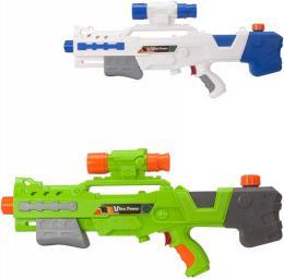 Pistole vodní 60cm se zásobníkem na vodu ultra power 2 barvy plast