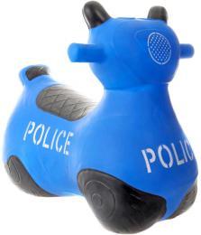 Baby hopsadlo gumové Motorka policejní modré set skákadlo s pumpièkou