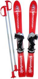 PLASTKON Lyže dìtské Baby Ski 70cm carvingové Èervené s vázáním plast