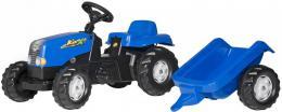 ROLLY TOYS Traktor dìtský šlapací Rolly Kids modrý set s vleèkou 130x42x39cm