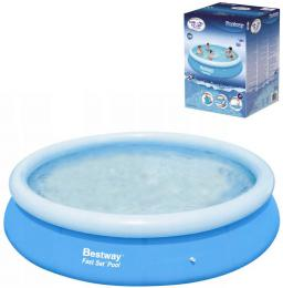BESTWAY Bazén Fast Set samostavìcí kruhový 366x76cm rodinný 57273