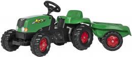 ROLLY TOYS Traktor dìtský šlapací Rolly Kids zelený set s vleèkou 130x42x39cm