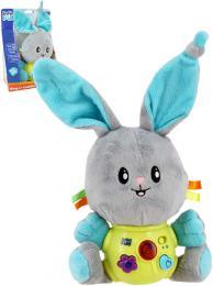 PLYŠ Baby králíèek s melodiemi na baterie Svìtlo Zvuk pro miminko