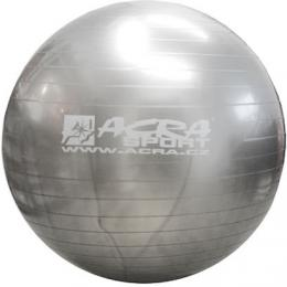 ACRA Míè gymnastický støíbrný 75cm fitness balon rehabilitaèní do 150kg