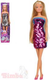 SIMBA Panenka Steffi Love 29cm flitrové šaty rùzné barvy