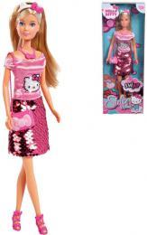 SIMBA Panenka Steffi 29cm Hello Kitty set s doplòky flitrová suknì