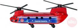 SIKU Vrtulník èervený dopravní 17cm helikoptera kovový model blister 1689