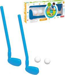 DOLU Set golfový pálka plastová modrá 2ks + míèek 2ks malý golfista