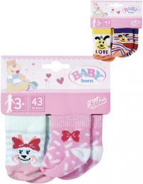 ZAPF BABY BORN Ponožky pro panenku miminko set 2 páry 2 druhy