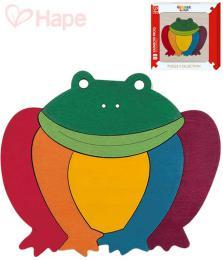 HAPE DØEVO Baby puzzle na desce žabka duhová 7 dílkù pro miminko