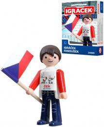 EFKO IGRÁÈEK Fanoušek hokejový figurka 7,5cm v krabièce STAVEBNICE