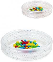 BESTWAY Set baby bazén kruhový nafukovací 91cm se soft míèky 50ks 2 barvy 51141