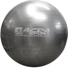 ACRA Míè gymnastický støíbrný 85cm fitness balon rehabilitaèní do 150kg
