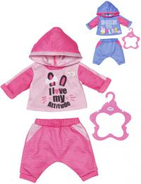 ZAPF BABY BORN Teplákovka pro panenku miminko set s ramínkem 2 druhy