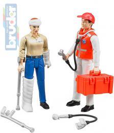 BRUDER 62710 Set zdravotnický záchranáø 2 figurky s doplòky 1:16 plast
