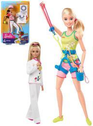 MATTEL BRB Panenka Barbie Olympionièka Tokio 2020 set s doplòky 3 druhy