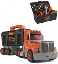 SMOBY Black and Decker auto šroubovací kamion s boxem s dìtským náøadím 2v1