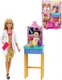 MATTEL BRB Povolání herní set Panenka Barbie doktorka s batoletem a doplòky