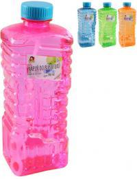 Náplò náhradní do bublifuku 1 litr 4 barvy v plastové láhvi